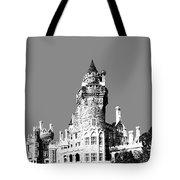 Toronto Skyline Casa Loma - Pewter Tote Bag