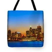 Toronto Skyline Panorama Tote Bag
