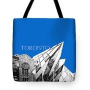 Toronto Skyline Royal Ontario Museum - Blue Tote Bag