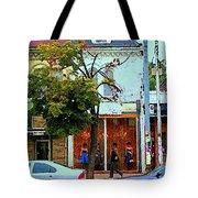 Toronto Stroll Past Fashion Stores Downtown Early Autumn Urban City Scenes Canadian Art C Spandau Tote Bag