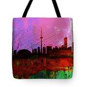 Toronto Watercolor Skyline Tote Bag