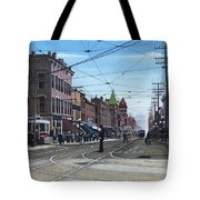 Toronto Yonge And College 1916 Tote Bag