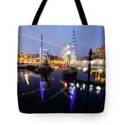 Torquay Harbour Bridge  Tote Bag