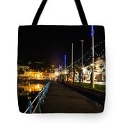 Torquay Victoria Parade At Night Tote Bag