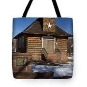 Torrey Log School And Church Utah Tote Bag