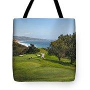 Torrey Pines Golf Course North 6th Hole Tote Bag by Adam Romanowicz