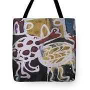 Tortoise Playing In The Hut Tote Bag