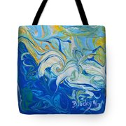 Tossed In The Waves Tote Bag