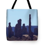 Totem Pole In Monument Valley Tote Bag