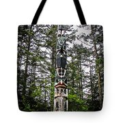 Totem Pole Of Southeast Alaska Tote Bag by Robert Bales