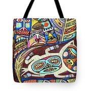 Totem Wolf Mother Spirit Tote Bag