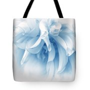 Touch Of Blue Dahlia Flower Tote Bag