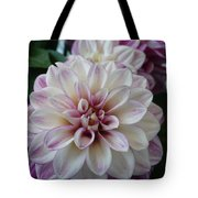 Touch Of Pink Dahlia Tote Bag