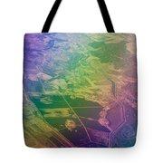 Touch Of Rainbow. Rainbow Earth Tote Bag by Jenny Rainbow