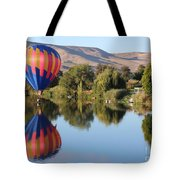 Touchdown On The Yakima River Tote Bag