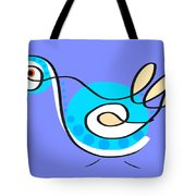 Thoughts And Colors Series Bird Tote Bag