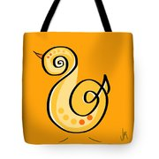 Thoughts And Colors Series Chick Tote Bag