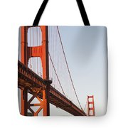 Tour Boats Cross Under Golden Gate Tote Bag by Harry M. Walker