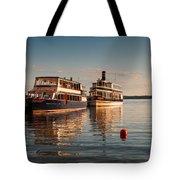 Tour Boats Lake Geneva Wi Tote Bag