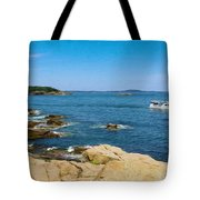 Touring The Rocky Shore Tote Bag
