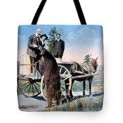 Tourist Feeding Bear Yellowstone Np Tote Bag