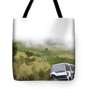 Tourists And Bus Inside The Eravikulam National Park Tote Bag
