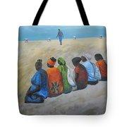 tourists in Jaffa  Tote Bag