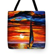 Towards The Sun - Palette Knife Oil Painting On Canvas By Leonid Afremov Tote Bag