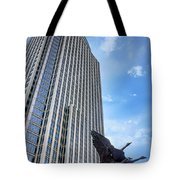 Tower And Geese Tote Bag