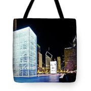 Tower Blue Tote Bag