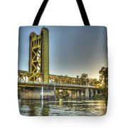 Tower  Bridge 2 Sacramento Tote Bag