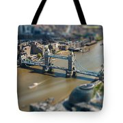 Tower Bridge And London City Hall Aerial View Tote Bag
