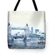 Tower Bridge And The City Of London Tote Bag