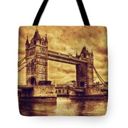 Tower Bridge In London Uk Vintage Style Tote Bag