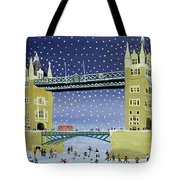 Tower Bridge Skating On Thin Ice Tote Bag