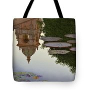 Tower In Lotus Position Tote Bag