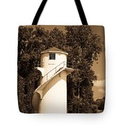 Tower In Sepia Tote Bag