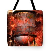 Tower Inferno Tote Bag