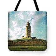 Tower Of Hercules La Coruna Tote Bag