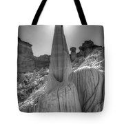 Tower Of Silence Monochrome Tote Bag