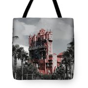 Tower Of Terror  In Color Tote Bag