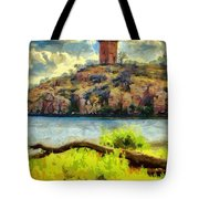 Tower On The Bluff Tote Bag