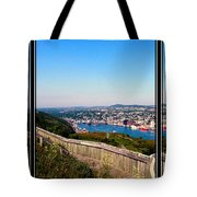 Tower Over The City Triptych Tote Bag