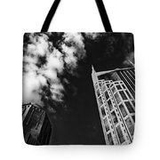 Tower Up Tote Bag by CJ Schmit