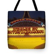 Tower World . Worlds Of Entertainment Tote Bag