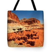 Towers Along The Waterpocket Tote Bag