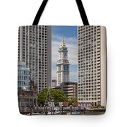 Towers On The Harbor Tote Bag