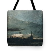 Town At Dusk Tote Bag by Victor Hugo