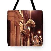Town At Night Tote Bag