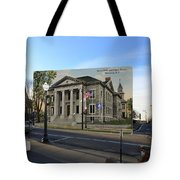 Town Hall And Court House In Westerly Rhode Island Tote Bag